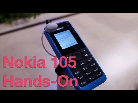 Nokia 105 hands-on. Cheapest Nokia phone to date