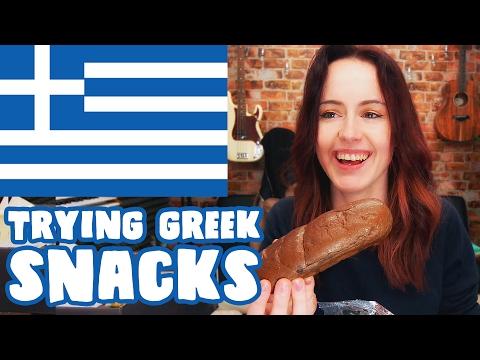 BRITISH GIRL TRIES GREEK SNACKS!