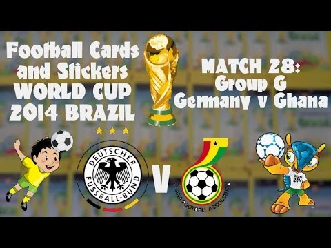 FOOTBALL CARDS & STICKERS WORLD CUP 2014 ☆ MATCH28 GERMANY v GHANA ☆ panini sticker packs opening