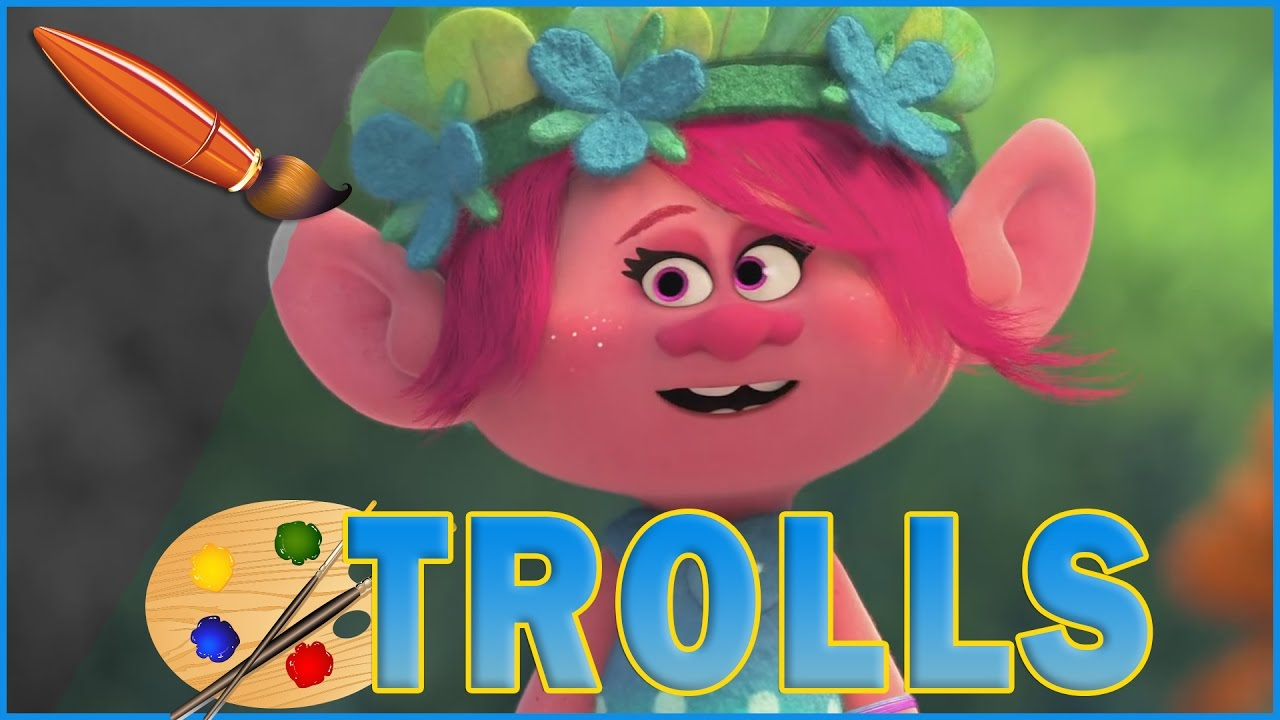 Poppy Becoming Queen Trolls Movie Kids Coloring Book Coloring