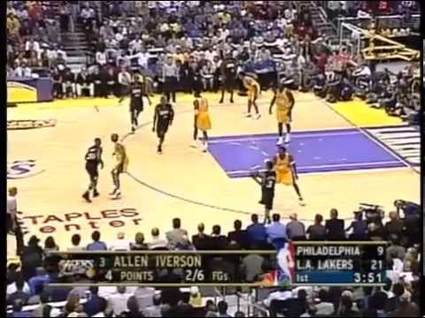 Lakers @ 76ers - Finals NBA 2001, GM 1. 1/4