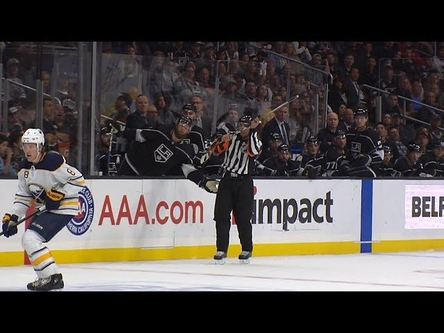 Ref makes amazing catch of flying stick