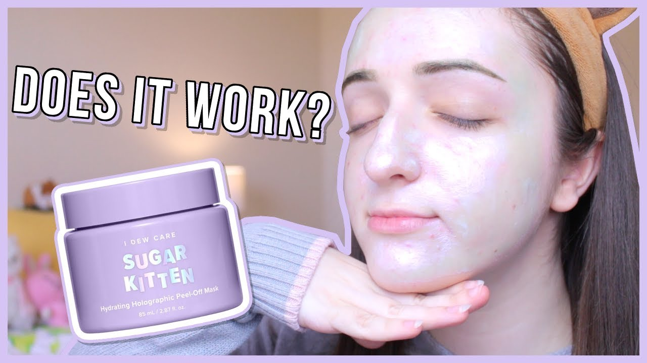 Prettiest Mask Ever But Does It Work I Dew Care Sugar Kitten Review Maevely Youtube
