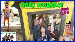 Hello Neighbor Real Life On A Castle Playground / That YouTub3 Family