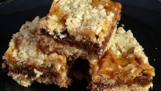 Caramel-chocolate Oat Squares (no Bake)