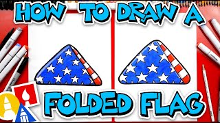 How To Draw A Folded Flag - Memorial Day