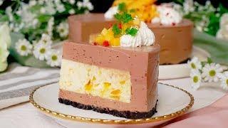 【さっぱり濃厚】完熟マンゴーチョコムースケーキ レシピはこちら:http...