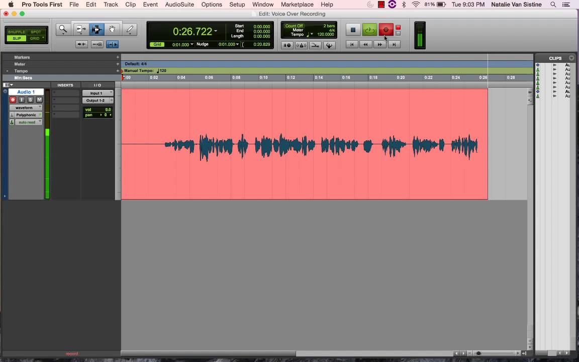 tutorial protools first basic audio recording youtube rh youtube com Express Pros Application Job Express Employment Professionals
