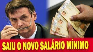 🔴 Jair Bolsonaro Assina o Novo Salário Mínimo de 2019 e Valor IMPRESSIONA a todos