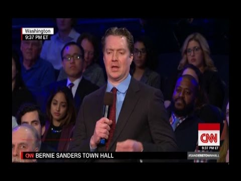 A Guy Drunk On Fox News Propaganda Asks Bernie Sanders Dumb Questions