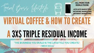 #20 HOW TO CREATE A TRIPLE $$$ RESIDUAL INCOME - TRAVEL BOSS LIFESTYLE VIRTUAL COFFEE ☕️