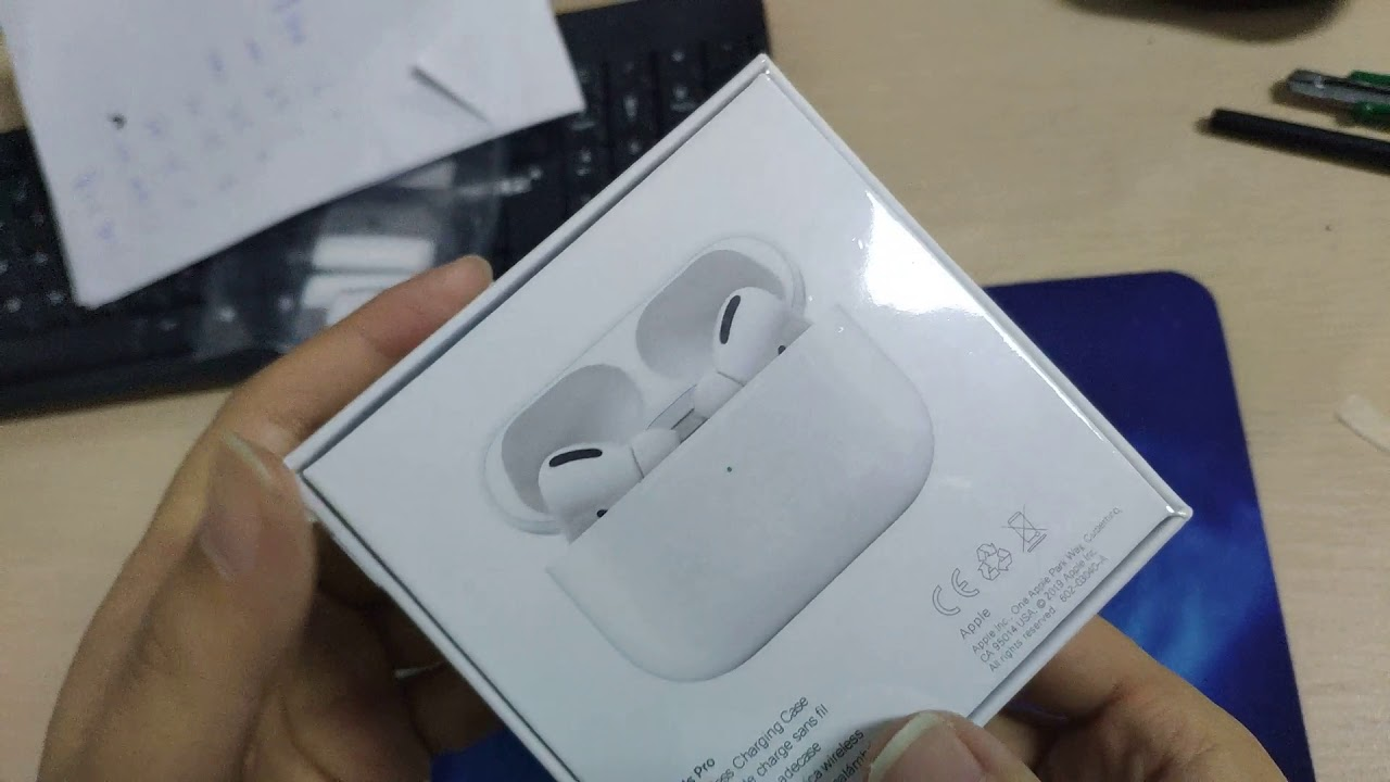 Fake Airpods Pro With The Opening Label Sticker Youtube