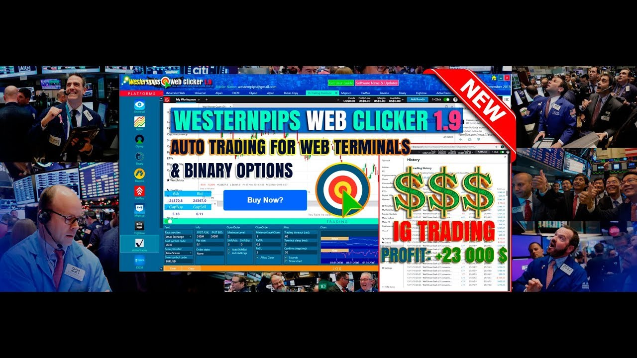 NEW! Web Clicker Forex Binary Option Bot:  Auto Trading