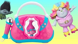TONS of TROLLS Toys Playset! Poppy Boom Box with Brigette the Bergen Doll