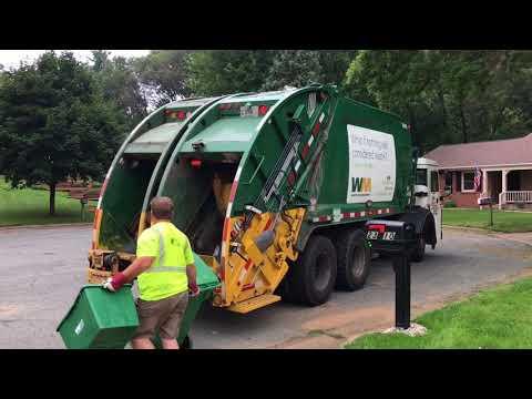 Mack LR McNeilus Split body Rear Loader Garbage Truck!