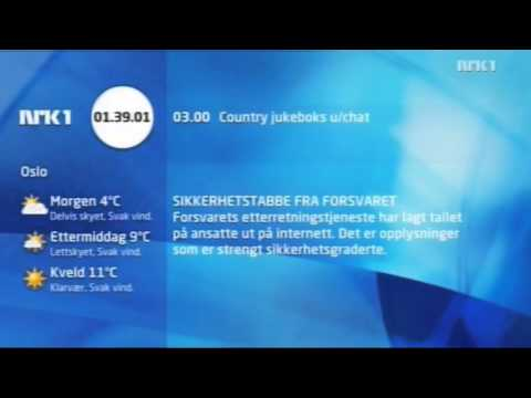 NRK1 siger godnat 12. april 2010