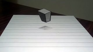 Making a floating cube 3D trick.