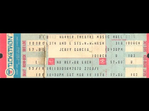 Jerry Garcia Band JGB 3-18-78 LATE SHOW Warner Music Theatre Hall Washington, DC