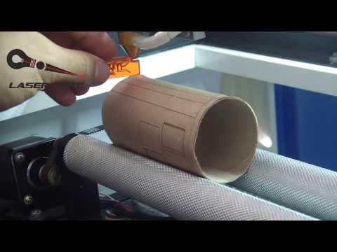 Como usar el Rotary axis en CorelLaser