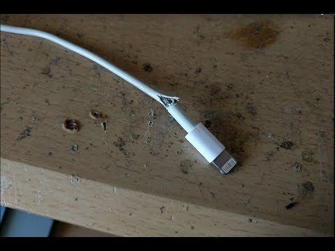 How To Repair Broken Lightning Cable With Heat Shrink