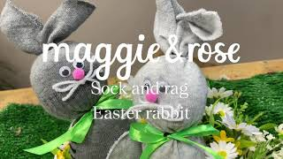 How to make your own adorable Easter Sock & Rag Rabbits