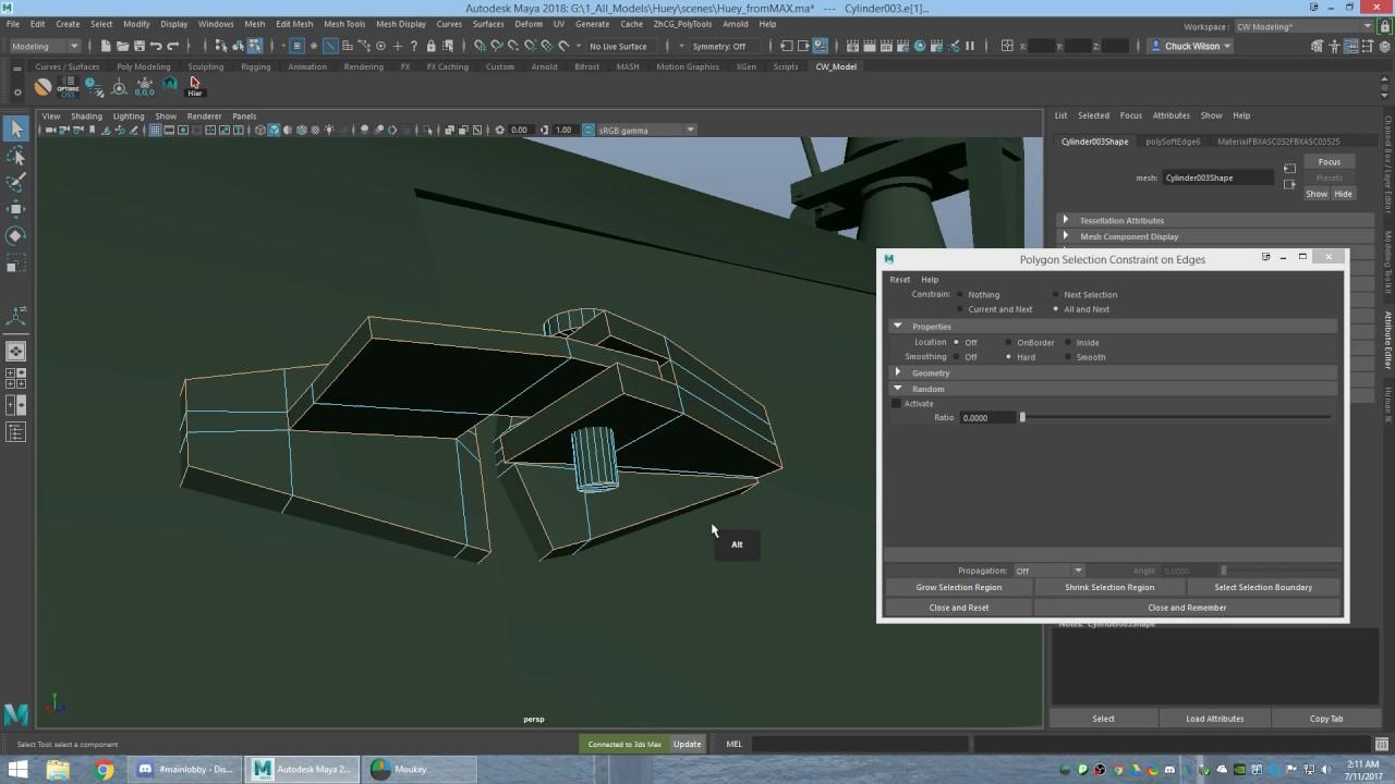 Maya like 3Ds Max Select Hard Edges AutoDesk