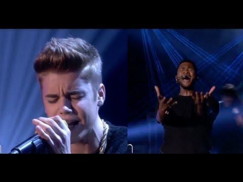 "Justin Bieber ""As Long As You Love Me"" on Ellen vs. Usher ""Numb""!"