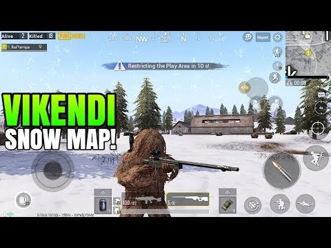 VIKENDI Gameplay! - NEW SNOW MAP | PUBG Mobile