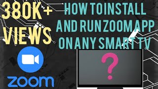 How to install and run the zoom app on any smart tv in a simple way#zoom#fightcorona