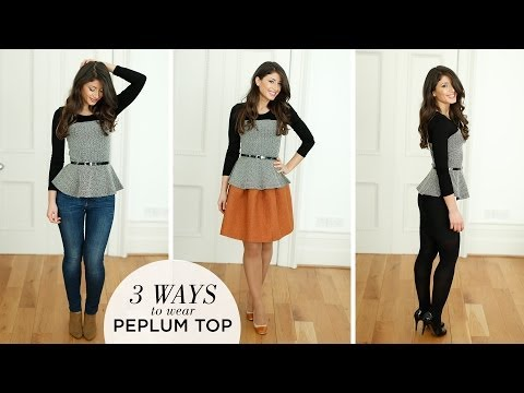 Peplum Top Peplum Tops How To Wear