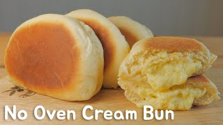 No Oven)프라이팬 슈크림빵 クリームパンレシピHow to make Cream Bun [스윗더미 . Sweet The MI]