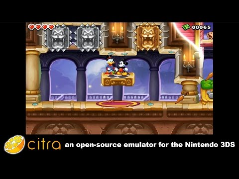 Citra 3DS Emulator - Disney Epic Mickey: The Power of Illusion Ingame! scaled resolution + audio