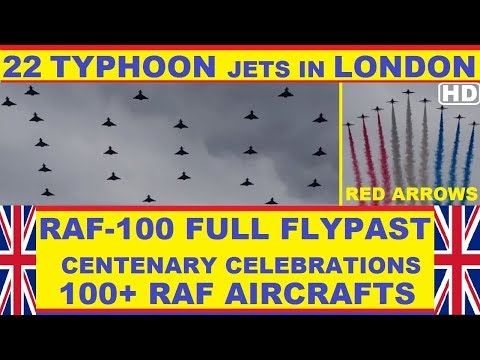 RAF 100 Full Flypast 10 July  Over 100 RAF Aircrafts  Thrilling Spectacle Never Seen Before  HD