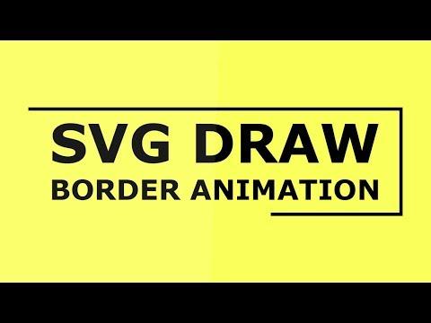 SVG Draw Border Animation | Html CSS