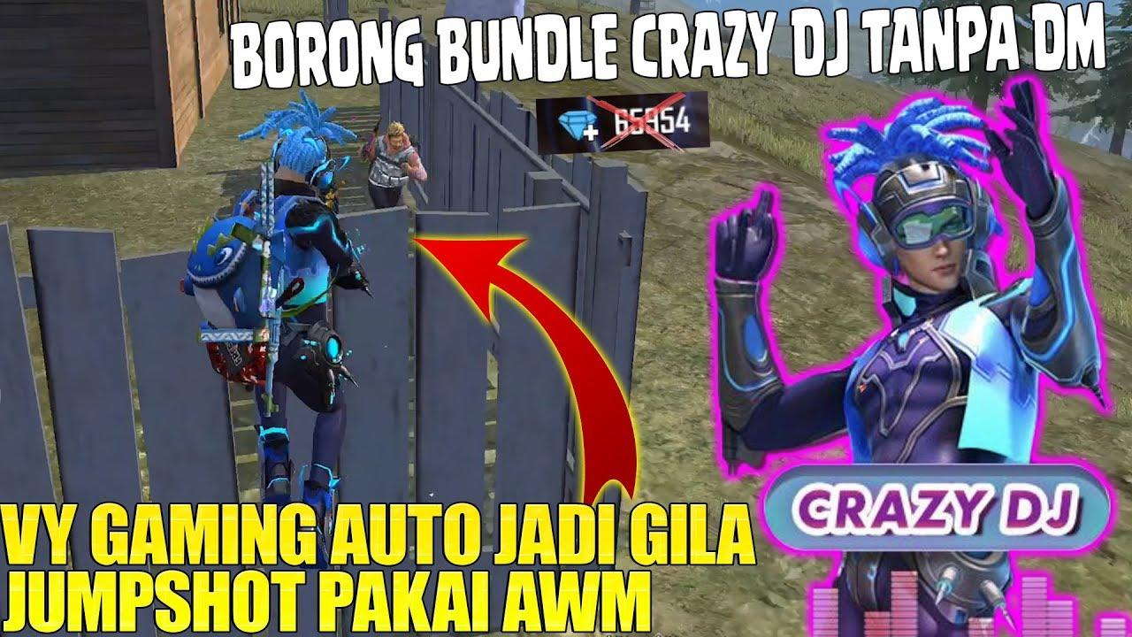 BUNDLE CRAZY DJ DIAMOND ROYALE TERBARU - VY GAMING TIBA² JADI GILA JAGO PAKAI AWM! FREE FIRE