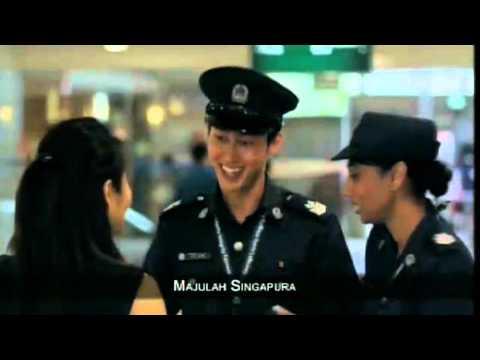 Majulah Singapura - Singapore National Anthem on TV
