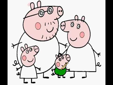 Peppa Pig Pintando A Familia Papai Pig Mamae Pig George Pig Youtube