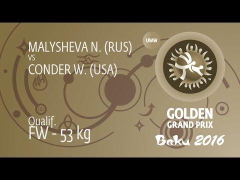 Qual. FW - 53 kg: N. MALYSHEVA (RUS) df. W. CONDER (USA), 6-2