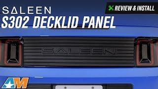 2010-2014 Mustang Saleen S302 Decklid Panel Review & Install