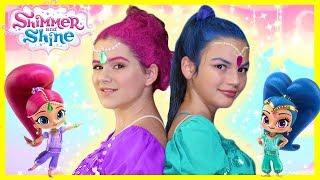 Shimmer and Shine Makeup Tutorial! Costumes, Makeup, & Hair!