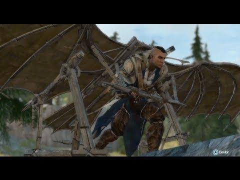 Assassin's Creed III - Secreto - MAQUINA VOLADORA + Todas las Conversaciones Aleatorias