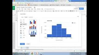 Creating a histogram using Google Spreadsheets