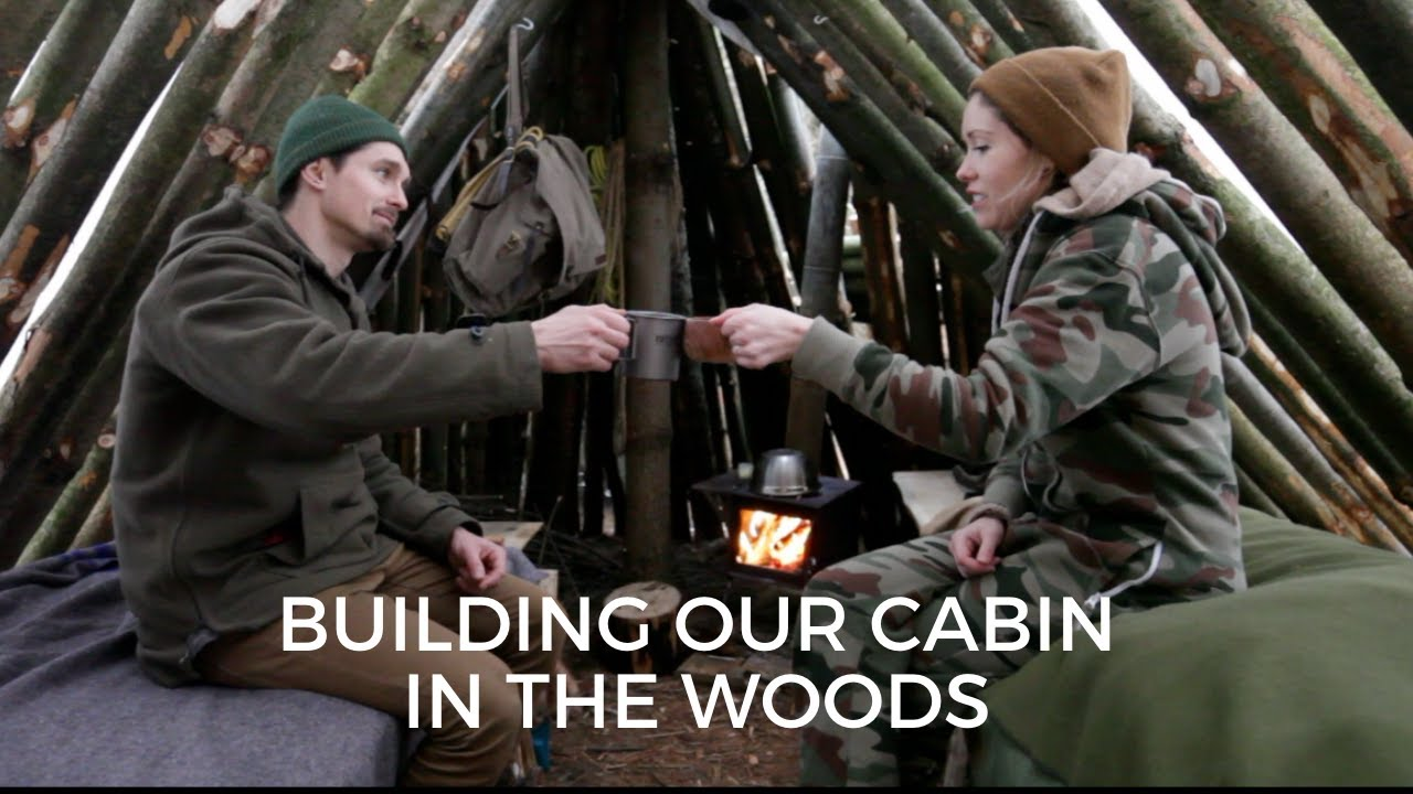 Cabin Build VLOG 1: Overnight at Shelter, Covid Haircut, Steaks on Coals & Coyotes
