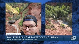 Valley man recovering after scary fall off mountain in Northern Arizona YouTube Videos