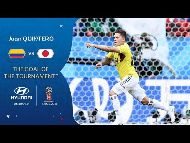Juan QUINTERO goal vs Japan   2018 FIFA World Cup   Hyundai Goal of the Tournament Nominee