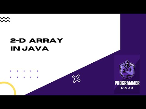 2 Dimensions Array in java programming || java tutorial thumbnail