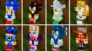 Minecraft Sonic DLC All Characters in Sonic Minecraft