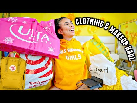 1bf8e4c6b7 CLOTHING, MAKEUP & BACKPACK HAUL for back to school online!💛🌻 - YouTube