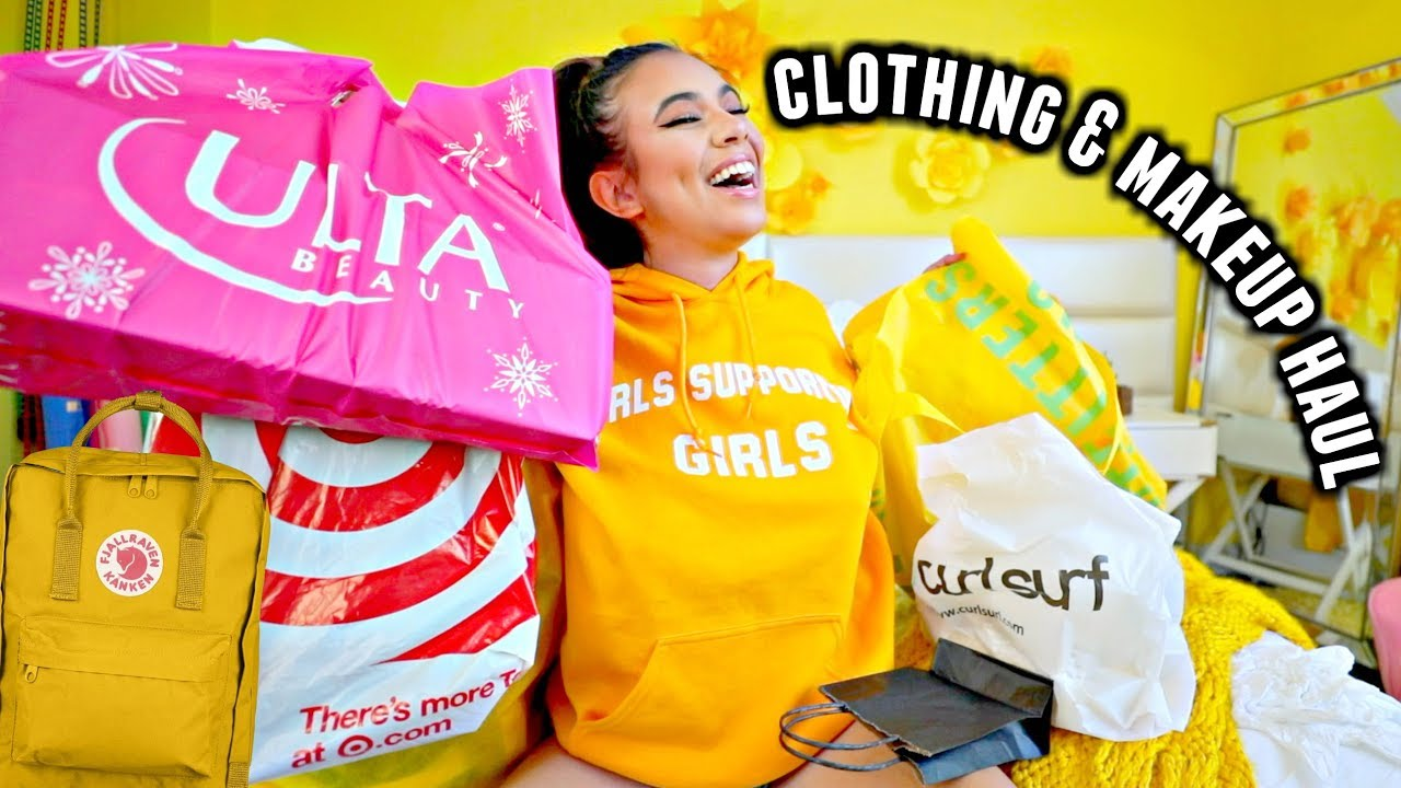 35988ffa3b CLOTHING, MAKEUP & BACKPACK HAUL for back to school online!💛🌻