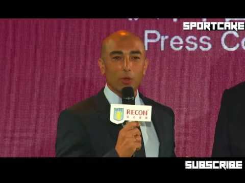 Roberto Di Matteo's Press Conference As Aston Villa Manager